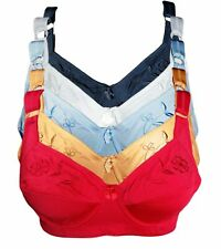 Lot 6 Womens PLUS SIZE Full Coverage Bras Underwire 38 40 42 46 48 50 D DD DDD