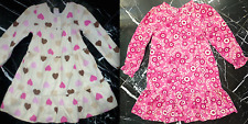 OLD NAVY Girls HEARTS  FLORAL Layered Long Sleeve CORD CORDUROY DRESS 3 5 T