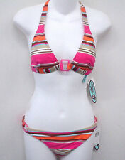 LOCAL MOTION Pink Halter Bikini Swimsuit S Cup A B