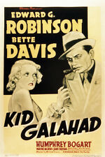 Edward G. Robinson Bette Davis Kid Galahad Vintage Art Movie Poster or Photo