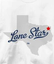 Lone Star, Morris County, Texas TX MAP Souvenir T Shirt All Sizes & Colors