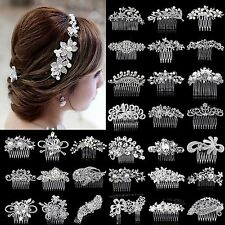 SM Bridal Wedding Rhinestone Crystal Hair Headband Crown Comb Tiara Pageant