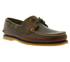 NEW Timberland Classic 2-Eye Boat Shoe Men's Real leather Boat shoes Brown 25077
