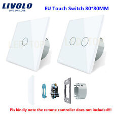 1-5PCS Livolo EU 1 Way 2 Way Remote Dimmer Curtain Wall Touch Switch Glass Panel