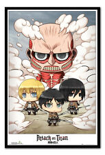 Attack On Titan Chibi Group Magnetic Notice Board Includes Magnets
