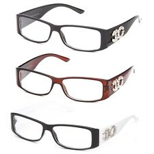 Clear Lens Fashion Glasses Designer Solid or Two Tone Frame with Temple Accent