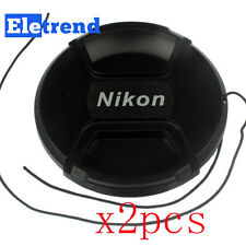 2PCS 67mm Snap-on Lens Cap for Nikon Camera Fit For Any 67mm Filter Size Lens