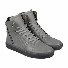 Creative Recreation Adonis Mens Gray Leather High Top Lace Up Sneakers Shoes