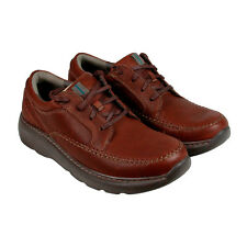 Clarks Charton Vibe Mens Brown Leather Casual Dress Lace Up Oxfords Shoes