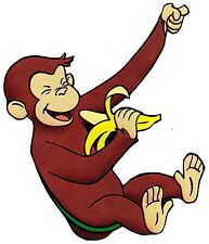 """5.5""""-9"""" CURIOUS GEORGE MONKEY CHARACTER WALL SAFE STICKER BORDER CUT OUT"""