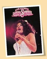 DONNA SUMMER LIVE & MORE PRINT POSTER SIZE MUSIC 70'S SINGER DISCO