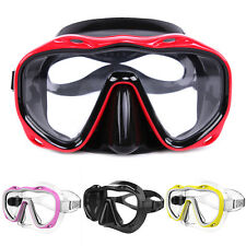 SILICONE SEAL SNORKEL SCUBA TEMPERED GLASS LENS MASK DIVING EQUIPMENT Sanwood