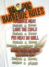 BBQ Barbeque Rules Drink Beer Order Pizza Big Dogs White Tee Shirt L XL 4X