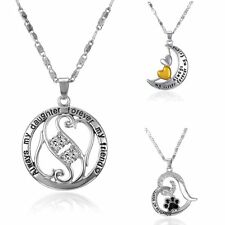 Crave Letter Heart Animal Paw Charm Pendant Chain Necklace Jewellry Woman Gifts