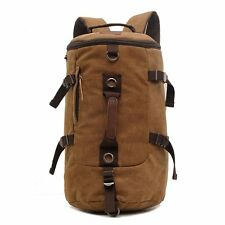 Men's Vintage Canvas Backpack Rucksack Laptop Shoulder Travel Camping Hiking Bag