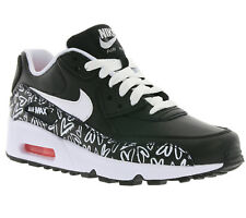 NEW NIKE Air Max 90 Print LTR GS Children Trainers Black 844616 001