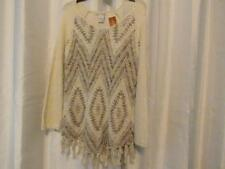 NWT American Rag CIE Fringed Sweater Off White 0X 1X 2X 3x Org $79.50