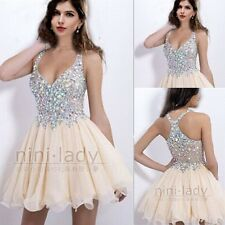 Beaded Homecoming Dresses Short/Mini Party Gown Evening Prom Cocktail Size 6-16