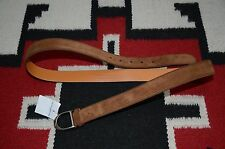 Ralph Lauren Purple Label Made in Italy Suede & Leather Equestrian Belt