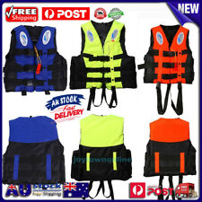 S-XXXL Polyester Adult Kids Life Jacket Swimming Boating Ski Foam Vest+Whistle