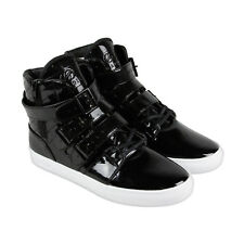 Radii Straight Jacket VLC Mens Black Patent Leather High Top Sneakers Shoes