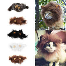 Fancy Pet Hat Costume Cute Lion Mane Cat Wig Halloween Dress Up With Ears New GH