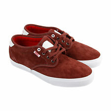 Vans Chima Estate Pro Mens Burgundy Suede Lace Up Lace Up Sneakers Shoes