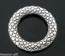 Wholesale Lots Gifts Soldered Closed Jump Rings Silver Tone 14mm Dia.