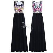 Women's Summer Bohemian Casual Long Maxi Evening Party Cocktail Dress Sundress