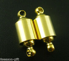 Wholesale Lots Gifts Gold Plated Barrel Magnetic Clasps 22x8mm Findings