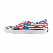 Vans Authentic Mens Red Canvas Lace Up Lace Up Trainers Shoes
