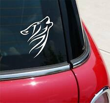 TRIBAL WOLF HEAD HOWL HOWLING GRAPHIC DECAL STICKER ART CAR WALL DECOR
