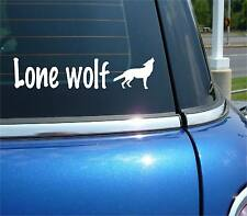 LONE WOLF WOLVES GRAPHIC FUNNY DECAL STICKER ART CAR WALL DECOR