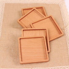 Hot 1Pc Practical Square Wooden Beech Drinks Coasters Glass Drink Mat Coaster
