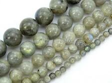 "U Pick Top Quality Natural Labradorite Gemstone Loose Round Beads 15.5"" #GY11"