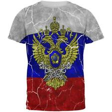 Distressed Russian Imperial Flag All Over Mens T Shirt