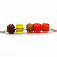 Glass European Beads Charm Bead Large Hole Free Shipping Bright Colors