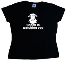 Sheep Is Watching You Funny Ladies T-Shirt
