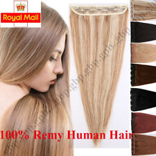 One Piece Weft Clip in Hair Extensions 100% Real Remy Human Hair Highlight A749