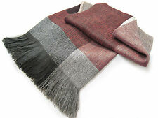 Alpaca and Lambswool Throw Blanket - Our Woven Block Throw, No Synthetics