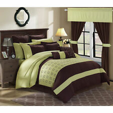 Chic Home Hubert Green 25-piece Bed in a Bag with Sheet Set Green/Brown