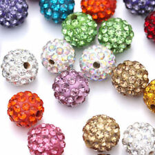 20PCS 10mm Czech Crystal Rhinestones Pave Clay Round Disco Ball Spacer Beads DIY