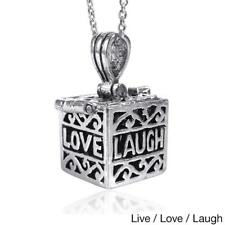 Handmade Prayer Box Locket .925 Silver Pendant (Thailand)