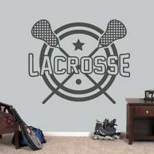 """Lacrosse Sports Wall Decal - 48"""" wide x 40"""" tall"""
