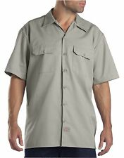 Dickies Silver Grey 1574 Traditional Short Sleeve Work Shirt Size S-3XL NWT