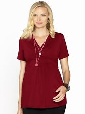 Maternity Crossover Work Top with Nursing Access - Red