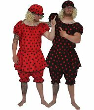 Adults Red or Black Panto Dame Ugly Sisters Complete Fancy Dress Costume
