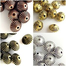 7x5mm Bicone Spacer finding Beads 20pcs copper antique brass pick your colors