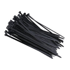 100Pcs Self-Locking Nylon Zip Fasten Wire Strap Releasable Cable Ties 250mm