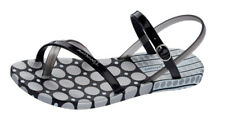 Ipanema Diamond IV Womens Flip Flops / Sandals - Black and Silver